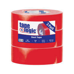 """Tape Logic® Duct Tape, 10 Mil, 2"""" x 60 Yd., Red, Case Of 3"""