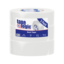 """Tape Logic® Duct Tape, 10 Mil, 2"""" x 60 Yd., White, Case Of 3"""