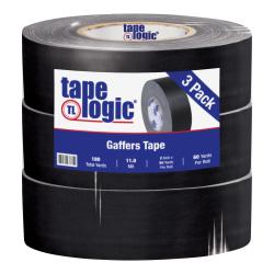 "Tape Logic® Gaffers Tape, 2"" x 60 Yd., Black, Case Of 3 Rolls"