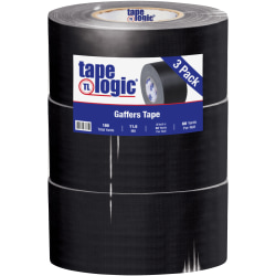 "Tape Logic® Gaffers Tape, 3"" x 60 Yd., Black, Case Of 3"
