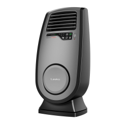 "Lasko® ULTRA 1500 Watts Electric Ceramic Oscillating Heater, 2 Heat Settings, 23""H x 11.34""W, Black"
