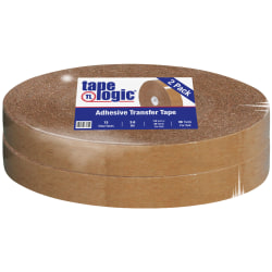 """Partners Brand Industrial #502 General Purpose Adhesive Transfer Tape, 1/2"""" x 1,296, Clear, Case Of 2"""