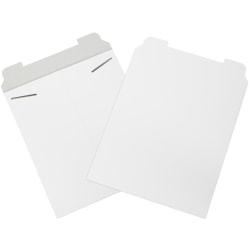 "Office Depot® Brand White Flat Mailers, 12 3/4"" x 15"", Box Of 100"