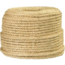 "Office Depot® Brand Sisal Rope, 1,700 Lb, 1/2"" x 500', Natural"