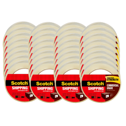 """Scotch® Commercial Grade Packing Tape, 1-7/8"""" x 54.6 Yd., Clear, Pack Of 48 Rolls"""