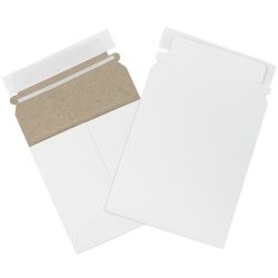 "Office Depot® Self-Seal Stayflats Mailers, 5 1/8"" x 5 1/8"", White, Box Of 200"