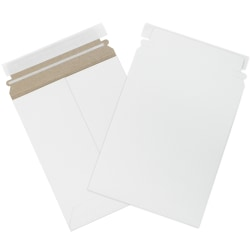 """Office Depot® Brand Self-Seal White Flat Mailers, 7"""" x 9"""", Box Of 100"""