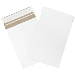 "Office Depot® Brand Self-Seal Stayflats Mailers, 6"" x 8"", White, Box Of 100"