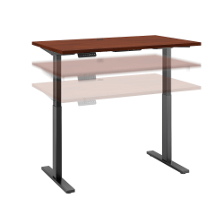 "Bush Business Furniture Move 60 Series 48""W x 24""D Height Adjustable Standing Desk, Hansen Cherry/Black Base, Standard Delivery"