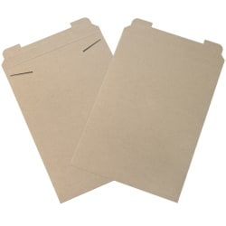 "Office Depot® Stayflats Mailers, 13"" x 18"", Kraft, Box Of 100"