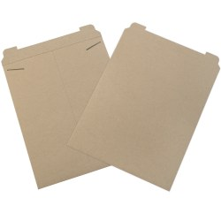 "Office Depot® Stayflats Flat Mailers, 17"" x 21"", Kraft, Box Of 50"