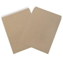 "Office Depot® Brand Self-Seal Kraft Flat Mailers, 17"" x 21"", Box Of 100"