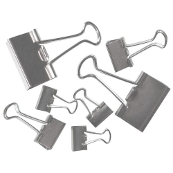 Office Depot® Brand Binder Clips, Assorted Sizes, Silver, Pack Of 30