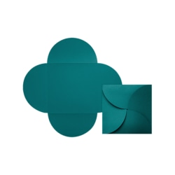 """LUX Petal Invitations, 6 1/4"""" x 6 1/4"""", Teal, Pack Of 130"""