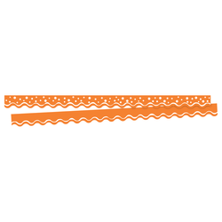 "Barker Creek Scalloped-Edge Border Strips, 2 1/4"" x 36"", Happy Tangerine, Pre-K To College, Pack Of 26"