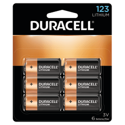 Duracell® Photo 3-Volt 123 Lithium Battery, Pack Of 6