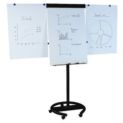 "MasterVision® 360° Magnetic Gold Ultra™ Dry-Erase Whiteboard, 27"" x 38"", Steel Frame With Black Finish"