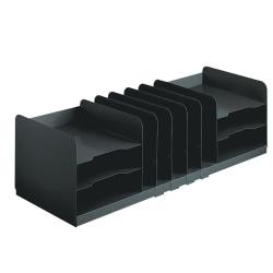 STEELMASTER® Combination Organizer with Adjustable Shelves, Black