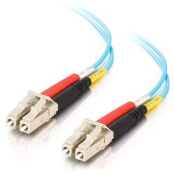 C2G 1m LC-LC 10Gb 50/125 OM3 Duplex Multimode PVC Fiber Optic Cable (USA-Made) - Aqua - Fiber Optic for Network Device - LC Male - LC Male - 10Gb - 50/125 - Duplex Multimode - OM3 - 10GBase-SR, 10GBase-LRM - USA-Made - 1m - Aqua