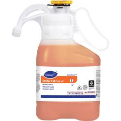 Diversey Stride Citrus HC Neutral Cleaner - Concentrate Liquid - 0.37 gal (47.34 fl oz) - Citrus ScentBottle - 2 / Carton - Orange