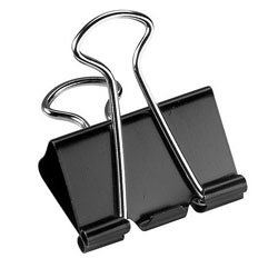 "Office Depot® Brand Binder Clips, Medium, 1-1/4"" Wide, 5/8"" Capacity, Black, Pack Of 24"