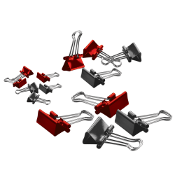 """Office Depot® Binder Clips, Medium, 1-1/4"""" Wide, 5/8"""" Capacity, Assorted Colors, Pack Of 24"""