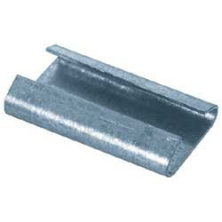 "Heavy-Duty Closed/Thread On Steel Strapping Seals, 3/4"" x 2 "",Case Of 1,000"