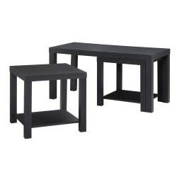 Ameriwood™ Home Coffee Table And End Tables, Black