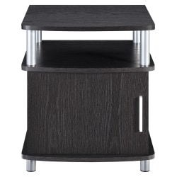 Ameriwood™ Home Contemporary Carson End Table With Storage, Square, Espresso
