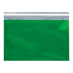 """Office Depot® Brand Metallic Glamour Mailers, 12-3/4"""" x 9-1/2"""", Green, Case Of 250 Mailers"""