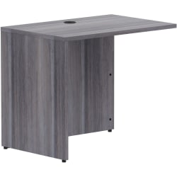 """Lorell Weathered Charcoal Laminate Desking - 35"""" x 24"""" x 29.5""""Return Shell, 1"""" Top - Material: Polyvinyl Chloride (PVC) Edge - Finish: Weathered Charcoal Laminate"""
