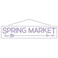"""Amscan Spring Market Street Signs, 5-1/4"""" x 22-7/16"""", Purple, Pack Of 2 Signs"""