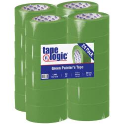 "Tape Logic® 3200 Painter's Tape, 3"" Core, 2"" x 180', Green, Case Of 24"