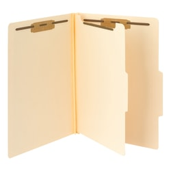 Smead® Manila Classification Folders, 1 Divider, Legal Size, Box Of 10