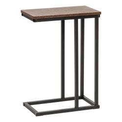 "IRIS C-Shaped Side Table, 25""H x 17-3/4""W x 10""D, Brown"