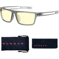 Gunnar Optiks Blue Light Blocking Gaming and Computer Eyewear/ Valve- Amber Tint, Smoke Frame - Smoke Frame/Amber Lens - Smoke Frame/Amber Lens
