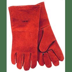 Premium Welding Gloves, Split Cowhide, Large, Pearl Gray