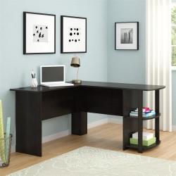 Ameriwood™ Home Dakota L-Shaped Desk With Bookshelves, Espresso