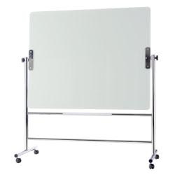 "MasterVision® Revolving Easel, 48"" x 60"", Stainless Steel, White"