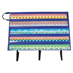 """Carson-Dellosa Border Storage Pocket Chart, 5 Pockets, 24-1/2"""" x 41"""", Multicolor"""