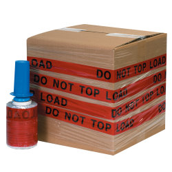 """GoodWrappers® Preprinted Identiwrap Stretch Film, """"Do Not Top Load,"""" 80 Gauge, 5"""" x 500', Pack Of 6"""