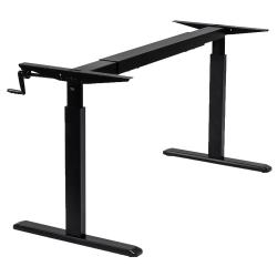 "Mount-It! MI-7931 Stand-Up Desk Frame With Manual Crank, 11""H x 44""W x 10""D, Black"