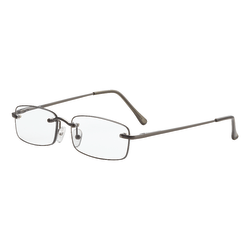 Dr. Dean Edell Beaumont Reading Glasses, +2.50, Gunmetal