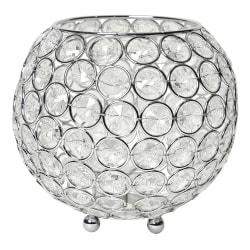 "Elegant Designs Elipse Crystal Bowl, 5-1/2"" x 6"", Chrome"