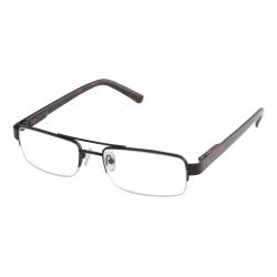 ICU Eyewear Men's Rimless Reading Glasses, Black, 2.25x