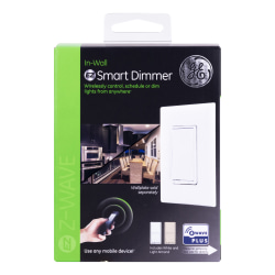 GE Z-Wave Plus In-Wall Smart Dimmer Switch, Light Almond/White, 500S