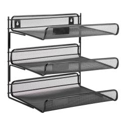 "Honey-Can-Do 3-Tier Steel Mesh Desk Organizer, 12 1/2""H x 10 3/4""W x 13 1/4""D, Black"