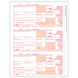 "ComplyRight™ 1099-SA Laser Tax Forms, Federal Copy A, 8-1/2"" x 11"", Pack Of 50 Forms"