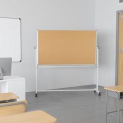 "Flash Furniture Reversible Cork Bulletin/Non-Magnetic Dry-Erase Whiteboard, 54 3/4"" x 45 1/4"", Silver Aluminum Frame"