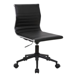 LumiSource Master Contemporary Armless Adjustable Task Chair, Black